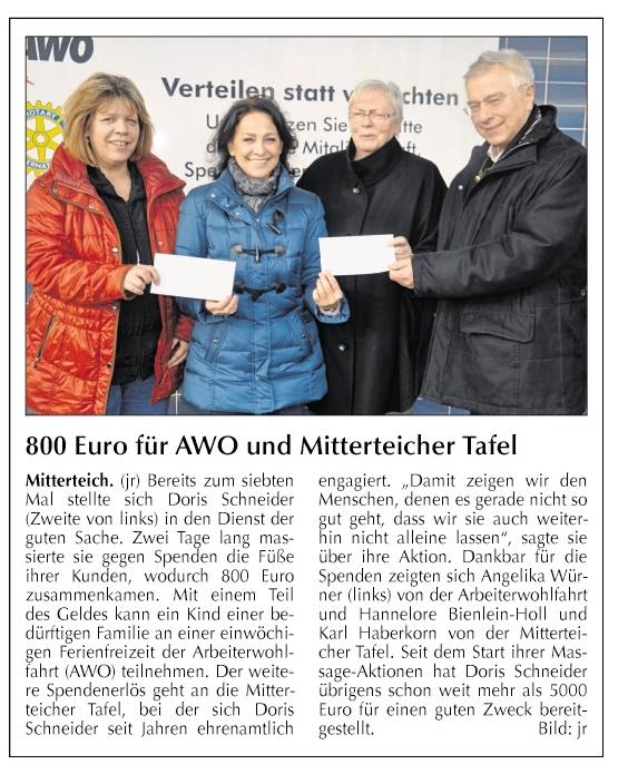 2014-12-18-800 Euro für AWO und Mitterteicher Tafel