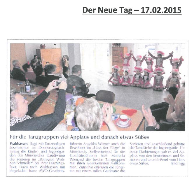 2015-02-17 Für die Tanzgruppen viel Applaus und danach etwas Süßes png.