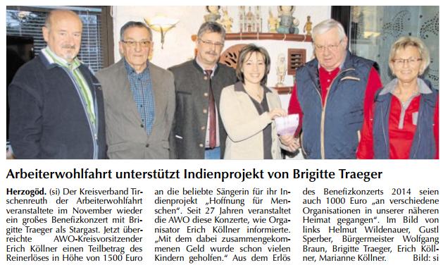 2015-04-01 Arbeiterwohlfahrt unterstützt Indienprojekt von Brigitte Traeger