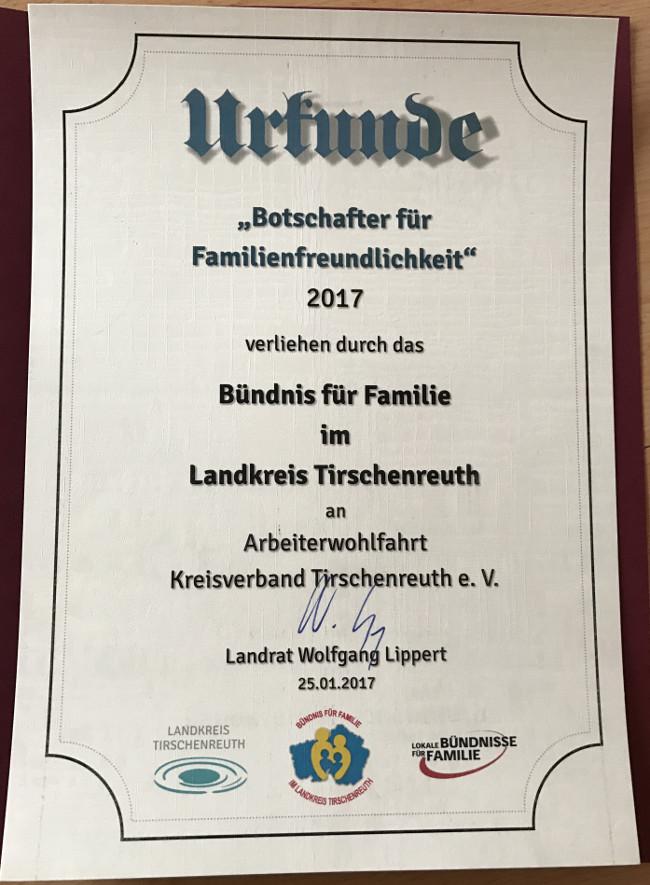 Auszeichnung Botschafter für Familienfreundlichkeit