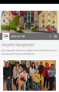 Screenshot der AWO App