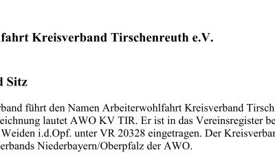 Neue Satzung des AWO Kreisverbandes Tirschenreuth