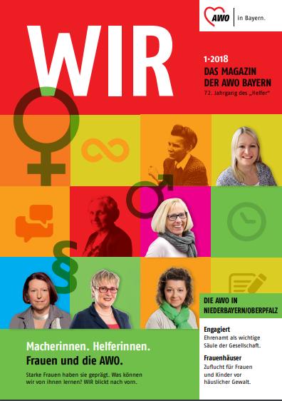 Titelbild der Ausgabe 01/2018 des AWO-Magazins