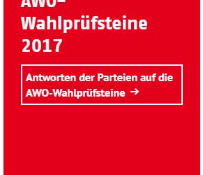 Bundestagswahl 2017: AWO-Wahlprüfsteine